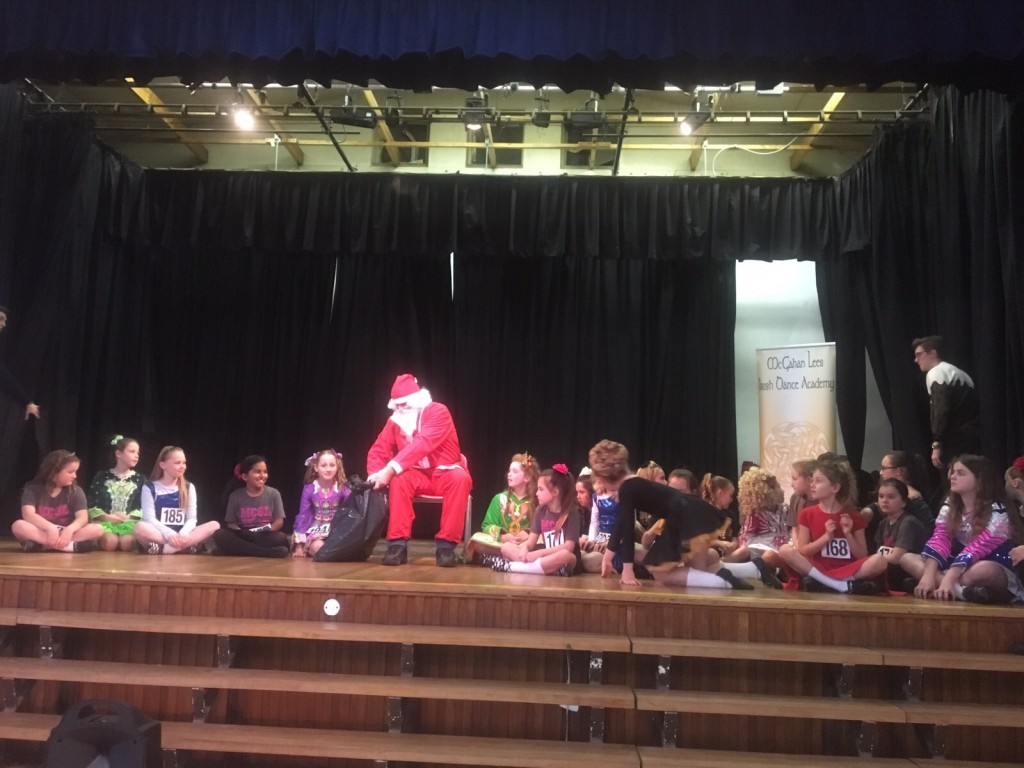 It wouldn't be the Christmas feis without a visit from this special person!